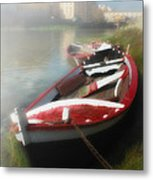 Morning Mist On The Arno River Italy Metal Print