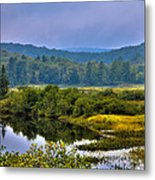 Morning Mist On The Moose River Metal Print by David Patterson