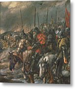 Morning Of The Battle Of Agincourt, 25th October 1415, 1884 Oil On Canvas Metal Print