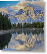 Morning On Colter Bay Metal Print