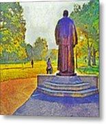 The William Oxley Thompson Statue. The Ohio State University Metal Print