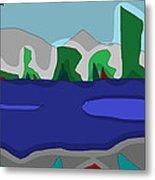 Morning On The Fraser River Near Maple Ridge Metal Print by David Skrypnyk
