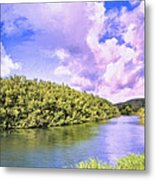 Morning On The Hanalei River Metal Print
