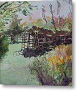 Morning On The Sheep Farm Metal Print