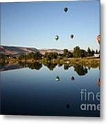 Morning On The Yakima River Metal Print by Carol Groenen