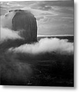 Morning Rain In Monument Valley Metal Print