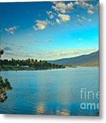 Morning Reflections On Lake Cascade Metal Print