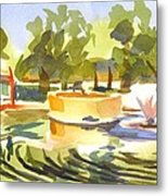Morning Ripples At Ste. Marie Du Lac Pond Metal Print