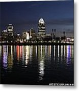 Morning Skyline Wo Bridge I Metal Print