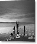 Morning Suds Bw Metal Print