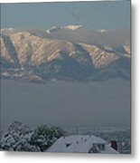 Morning Sun On Utah Mountains Metal Print