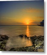Morning Sun Rising In The Grand Caymans Metal Print by Dan Friend