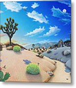 Joshua Tree Morning To Night Metal Print