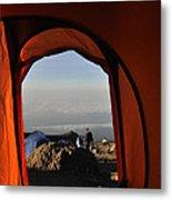 Morning View At The  Karanga Valley In 4000 Meters At Mount Kilimanjaro In Tanzania Metal Print
