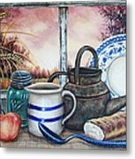 Morning Wheat Metal Print