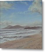 Mornings Haze One Mile Beach Forster Metal Print