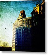 Morningside Heights Blue Metal Print