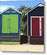 Mornington Beachboxes Metal Print by Rachael Curry