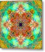 Moroccan Sun Mandala Metal Print