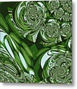 Moroccan Lights - Green Metal Print