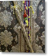 Morocco, Tin Decorated Cabinet With Tin Metal Print