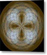 Morphed Art Globe 24 Metal Print