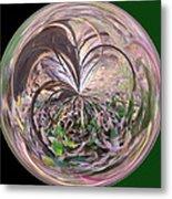Morphed Art Globe 36 Metal Print by Rhonda Barrett