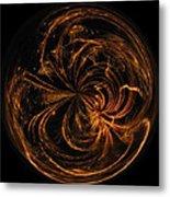 Morphed Art Globe 40 Metal Print