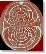 Morphed Art Globes 17 Metal Print by Rhonda Barrett