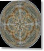 Morphed Art Globes 25 Metal Print by Rhonda Barrett