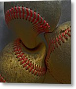Morphing Baseballs Metal Print by Bill Owen
