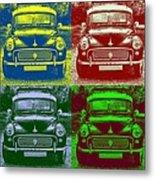 Morris Car In Pop Art Metal Print