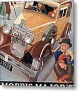 Morris Major 6 - Vintage Car Poster Metal Print