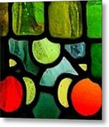Morris Stained Glass Metal Print