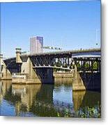 Morrison Bridge Portland Oregon Metal Print
