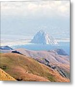 Morro Bay Rock Vista Overlooking Highway 46 Paso Robles California Metal Print by Artist and Photographer Laura Wrede
