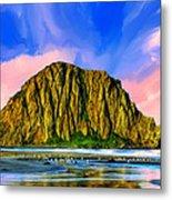 Morro Rock Sunset Metal Print