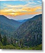 Mortons Overlook Smoky Mountain Sunset Metal Print
