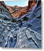 Mosaic Canyon In Death Valley Metal Print