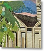 Mosaic Of Church With Palm Tree Metal Print