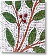 Mosaic Picture Of Tree Branch  Metal Print