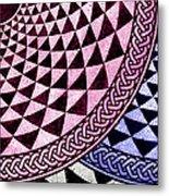 Mosaic Quarter Circle Bottom Right  Metal Print