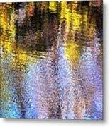 Mosaic Reflection At The River Metal Print