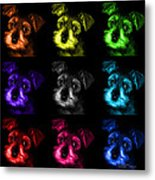 Mosaic Salt And Pepper Schnauzer Puppy Pop Art 7206 F -bb Metal Print