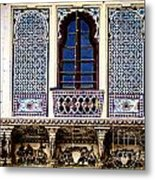 Mosaic Windows Metal Print by Catherine Arnas