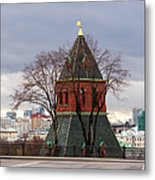 Moscow As Viewed From The Kremlin - Square Metal Print