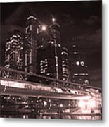 Moscow At Night Metal Print