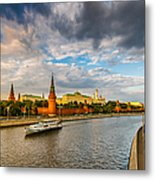Moscow Kremlin At Sunset - 2 Metal Print