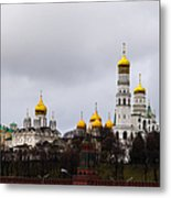 Moscow Kremlin Cathedrals - Featured 3 Metal Print