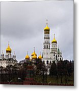 Moscow Kremlin Cathedrals - Square Metal Print